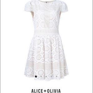 Alice+Olivia Imani embroidered dress